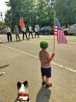 Our youth standing for the American flag