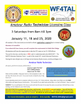 TALARC Post 187 in Wake Forest, N.C., to hold a Technician licensing class in January 2020
