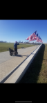 James Barry of Post 556 visits Veterans Memorial Wall in Perryville, Mo.