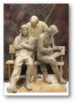 World War II pilot sculpts lifesize monument to recognize fallen airmen