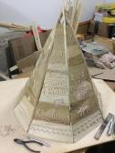 Native American tipi model honors Hayes