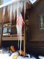 Flag flies in deep freeze