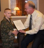 10 year old Georgia Legion honoree also gets presidential award