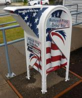 Sherwood Eagle Scout creates an American flag drop box
