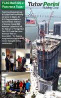 Presenting an American flag to Panorama Towers