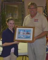 Junior Auxiliary Member Recognized by Honor Flight