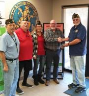 AZ Post 96 donates $1,150 to Luke AFB families
