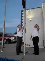 Walter Rhoades Post/Squadron 111 (Louisville, Colo.) starts Sept 11, 2021, by lowering flag
