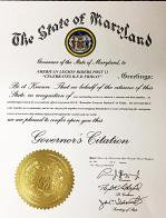 Maryland Governor Larry Hogan and Francis Scott Key/ALR Post 11 declare every Friday a R.E.D. Friday