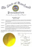 Maryland Governor Larry Hogan issues a proclamation for Memorial Day observance