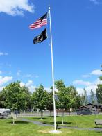 Columbia Falls Freedom Post 72 sponsored a new flagpole in MT Veterans Home Cemetary