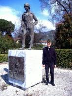 Monument in Pietrasanta, LU, Italy