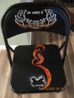 """Missing Man"" memorial chairs"