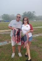 Flag placing in Lakeland Memorial Gardens Cemetery