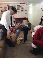 Santa and Twisp Post 143 help make a family's Christmas