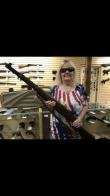"Betty ""Critter"" Lewis wins M1 rifle"