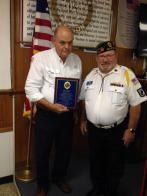 Belleview Post 284 presents award