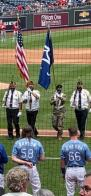Presenting colors at the KC Royals game