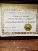 Squadron 10 receives Community Citizen Award