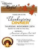 Post 149 To Serve Military & Their Families Free for Thanksgiving