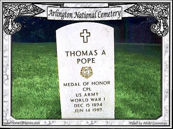Edison Park Post 541 Commander Thomas A  Pope, CMH