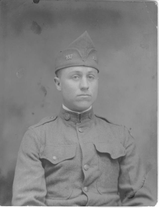 Pvt  Newton Willard Young, combat-wounded World War I