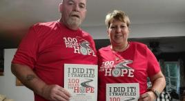 599 miles on the bike for 100 Miles for Hope