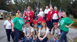 Belleview American Legion Auxiliary Unit 284 & Girl Scout Troop 661 Participated in the Belleview Annual Christmas Parade