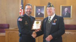 Post 449 awards Outstanding Public Safety plaque to Elm Grove police department