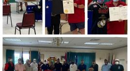 Francis Scott Key Squadron 11 and past commander honor Marine Vietnam veteran