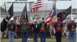 Post 471 Presents Flags To Opening Ceremoines To Challenger League