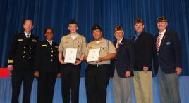 American Legion Post 110 presents Gold Medals
