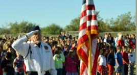Old Glory is presented by Oro Valley Post 132 to students