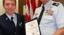Cadet in Germany receives American Legion medal