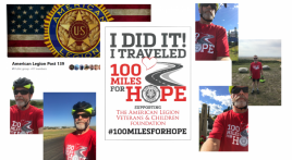 Post 139 joining in the 100 Miles for Hope