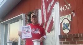 Post 193 (Cape May, N.J.) 89-year-old chaplain completes 100 Miles for Hope