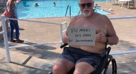 150 miles swimming