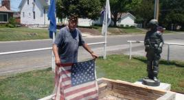 American Legion Prairie Du Pont Post 485 U.S. flag retirement