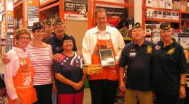 Post 555 grateful to Home Depot