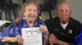 World War II Marine's 100th birthday at Legion Post 348 (CA)