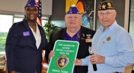 American Legion Peter J. Courcy Post 178 proclaimed a Purple Heart Post