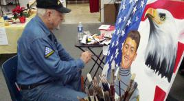 In Texas, one veteran dedicates life to painting fallen heroes