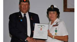 District 15 Honors 30 Year Member Of Our Armed Forces