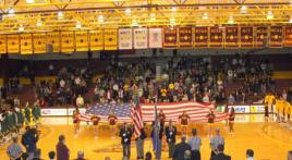 Pearl Harbor Day Color Guard at College Basketball Game