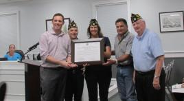 Post 42 (Ocean Springs, Miss.) displays U.S. World War One Centennial Award