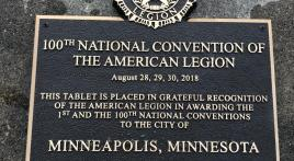 Plaque commemorates 100th American Legion national convention