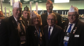 Ohio governor accepts award at national convention
