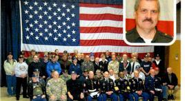 Center Street Elementary School awarded plaque for Veterans Day program