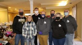 Homeless veteran program partners with corporate veteran team to collect and distribute winter coats during COVID