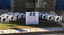 Veterans suicide awareness roving display
